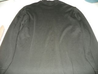 Bobby Jones Golf Black Long Sleeve Shirt Mock Neck L Large Peru Cotton