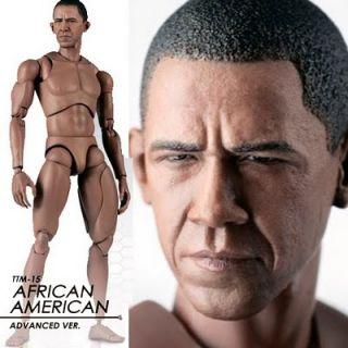 Hot Toys TrueType African American Black Obama Headsculpt Head BBI 12