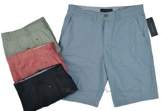 New 1pr Mens Tommy Hilfiger Cotton Flat Front Inseam 10 5 Shorts Size