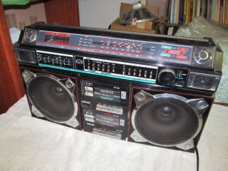 Vintage Helix HX 4636 Boombox Radio Cassette Player Nice