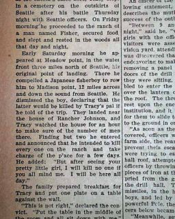 Harry Tracy Old West Outlaw Bothell Washington Shootout Escape in 1902