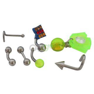 Complete Pro Kit 4 Body Piercing Gun Tools w Studs Jewelry Needles