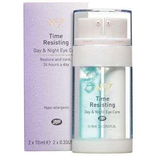 Boots No7 Time Resisting Day Night Eye Care Cream Anti Aging Full Size