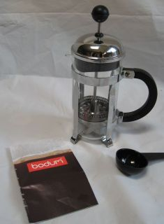BODUM FRENCH PRESS WITH INSTRUCTION BOOK AND MEASURING SPOON