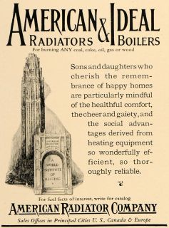 1927 Ad American Radiator Company Boilers Heating Coal   ORIGINAL