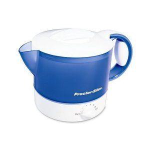 Proctor Silex Electric Hot Pot Blue Boil Water New