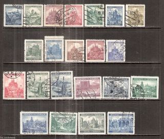 Bohemia & Moravia Czechoslovakia Hitlers Nazi Germany Set of 22 Stamps