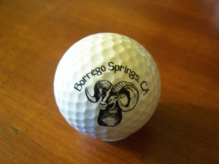 Logo Golf Ball Borrego Springs Resort RAM California