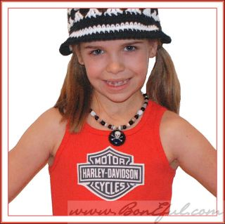 BOOAK Girl Boutique New Tank Top 5 6 Harley Davidson Bike Resell Knit