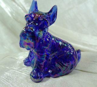 E Bay Blue Shoe Carnival Glass