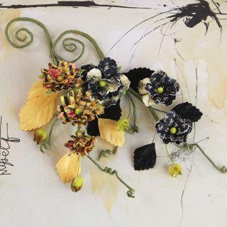 Prima Flowers Romance Novel Handmade Paper Flower Vine Bosque 9 2/Pkg