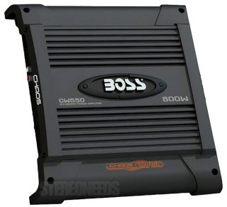 Boss Audio CW550 800 Watt 2 1 Channel Amp Car Stereo Sub Power