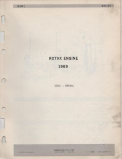 1969 Bombardier Ski Doo Rotax Engine Parts Manual 335cc