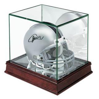 New Real Glass Mini Football Helmet Cherry Display Case