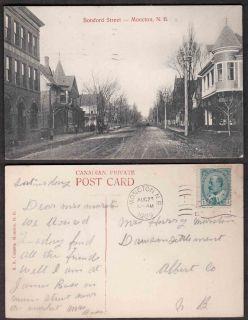 Canada Street Scene Postcard   Botsford Street, Moncton, New Brunswick