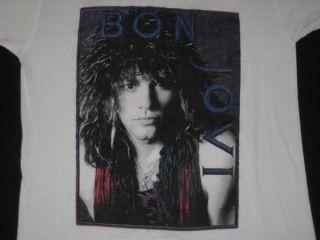 Vintage Bon Jovi 80s Tour T Shirt Concert Original XL Jon