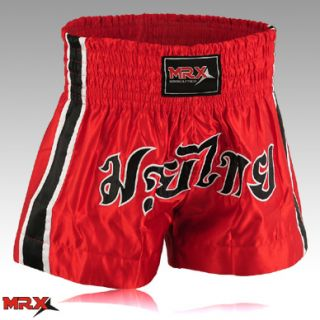 Muay Thai Kick Boxing Shorts Red MMA Boxer Training Short Martial Arts