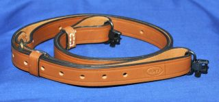 Boyt 1 Leather Rifle Sling with Swivels
