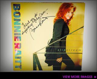 bonnie raitt signed slipstream vinyl