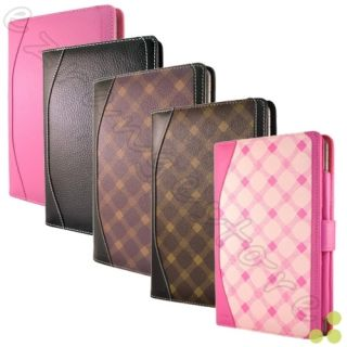 Caseen Leather Book Case Cover for Barnes Noble Nook Tablet Color