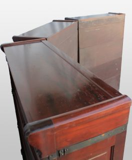 Antique Mahogany Sectional Bookcases Beveled Glass Ideal 3 Units Each