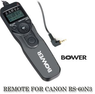 Bower LCD Timer Remote for Canon RS 60E3 T4i 650D T3i 600D XT XTi T1i