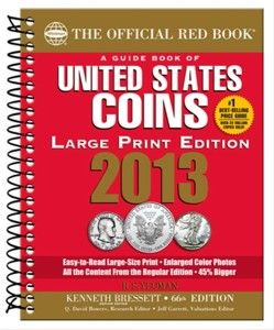 2013 Red Book United States Coins Large Print Redbook PRESALE