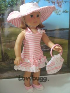 BowTies Dress Hat Purse Doll Clothes fits American Girl &Bitty WIDEST
