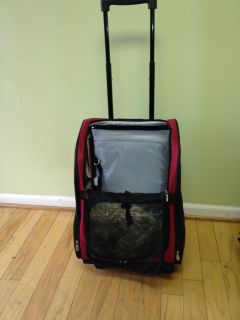 Cat or Dog Wheeled Pet Carrier Back Pack Car Seat Pet Bed Combo