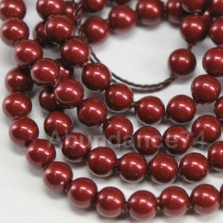 Swarovski Crystal Pearl 5mm 5810 Round Ball Bordeaux