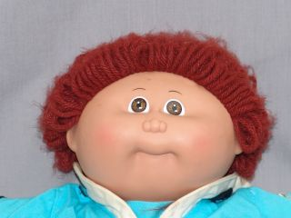 Vintage Cabbage Patch Kids Doll Baby Boy Red Brown Hair Sailor Outfit
