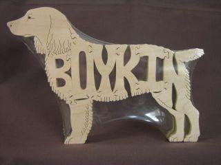 New Boykin Spaniel Wooden Dog Scroll Saw Toy Puzzle