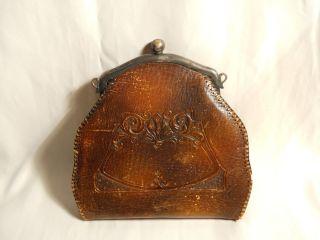 Bosca Hand Tooled Leather Vintage Purse 1911