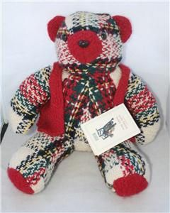 Branigan Weavers Handmade Irish Tweed Teddy Bear w Tags