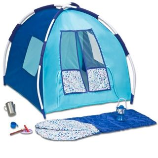 Doll Tent W/Sleeping Bag & Accessories Fits 18 American Girl & Dollie