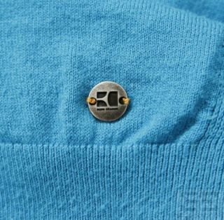 Hugo Boss Boss Orange Mens Aqua Blue Cotton Crewneck Sweater Size L