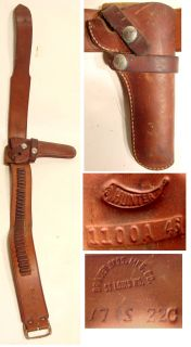Old Vintage BRAUER BROS AMMO CARTRIDGE BELT + HUNTER HOLSTER