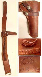 Old Vintage BRAUER BROS AMMO CARTRIDGE BELT + HUNTER HOLSTER