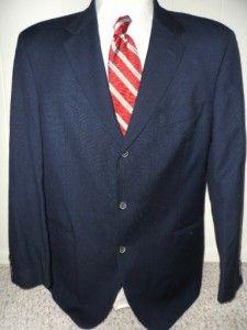 Hugo Boss 3Btn Tweed Blazer 46R Navy Blue Einstein Model Excellent