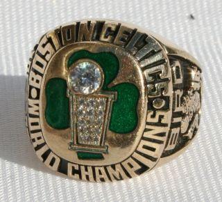 1986 BOSTON CELTICS NBA WORLD CHAMPIONS CHAMPIONSHIP RING 10K BY