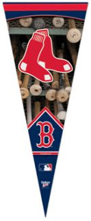 boston red sox dual logo premium felt pennant