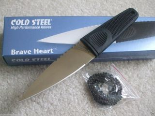 Cold Steel Brave Heart Fixed Blade Knife Boot Neck Belt Sheath 11SDS