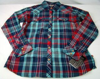 Womens Western Dickies Work Long Sleeve Plaid Tailored Shirt Any Size