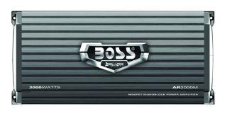 Boss Audio AR2000M 2000W Monoblock Power Amplifier with Remote
