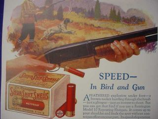 1927 Remington Model 10 Shotgun Bird Hunting Poster