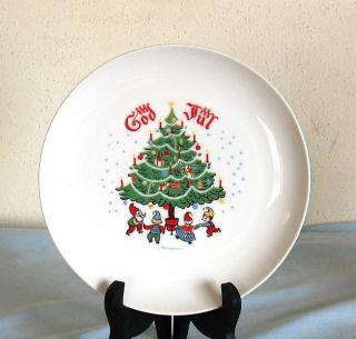 Swedish God Jul Merry Christmas Plate Berggren Trayner