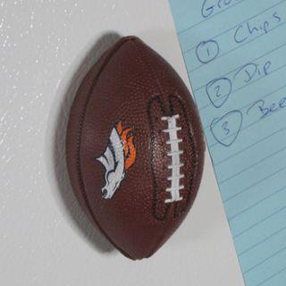 Denver Broncos Mini Football Bottle Opener, Hand Held Fridge Magnetic