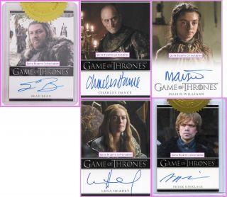 Cersei Tyrion Eddard Brandon Arya Catelyn Sandor Jaime Game of Thrones