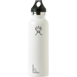 Flask 21oz Standard Insulated Stainless Steel Water Bottle   White