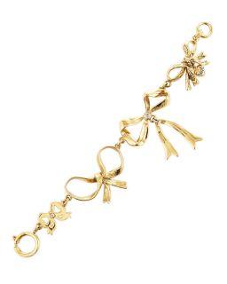 Juicy Couture Multi Bow Bracelet Golden